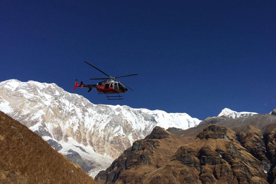 Annapurna Base Camp in Helicopter